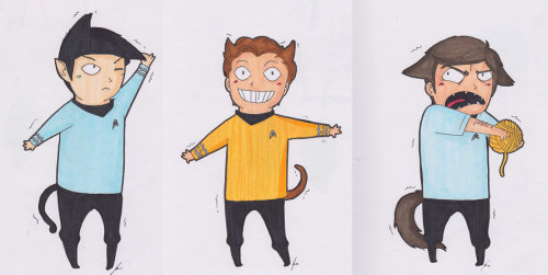 Star Trek Cats. by ~jjengo (#deviantart)
