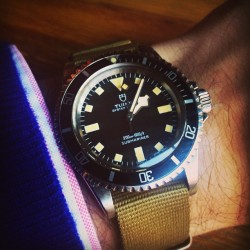 hodinkee:  Tudor Sub, issued by the French NAVY.  Rad.