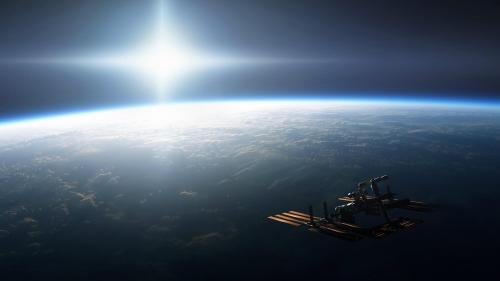 International Space Station artists impression. I'll add the artists name when I find it out.