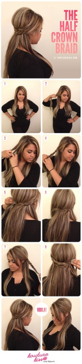 DIY - Half crown braid tutorial.