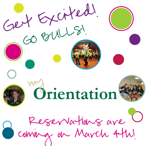 Orientation reservations start on Monday at www.usf.edu/myorientation!