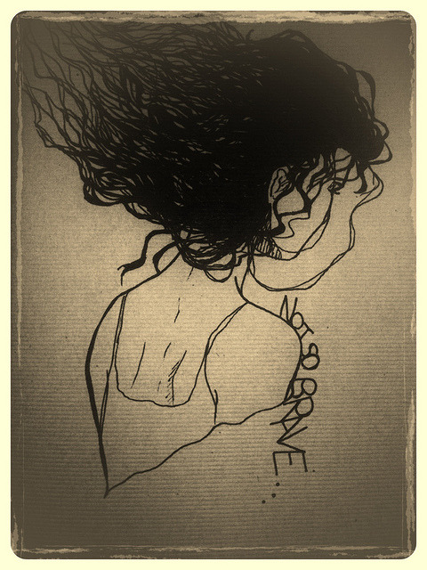 Not so brave… on Flickr. Just a doodle from my sketch book. the hair was fun to draw!