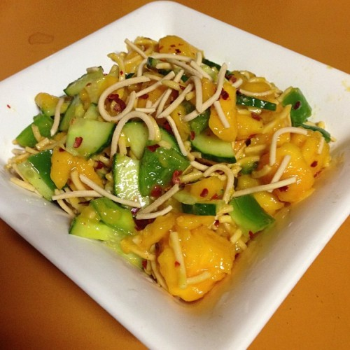 everyone scope the chilli-line mango salad I just improvised