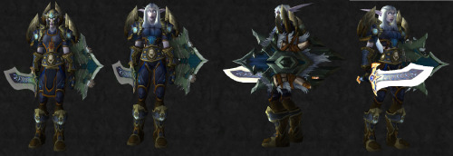 Transmog Challenge 20: Entry 5  X-Mog Challenge: Rep Theme Used the Gilneas Tabard Warrior: Prot Plate Wowhead Items Link: http://www.wowhead.com/compare?items=39188:47698:49303:64882:47150:84911:47677:47510:44649:37362