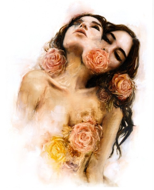 """Rose"" Edition of 150 signed prints available at  www.CharmaineOliviaShop.com ❤"