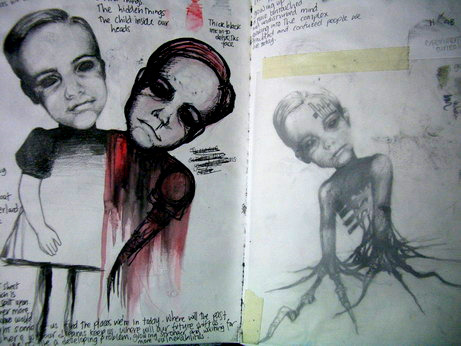 pages of an old sketchbook 2007   www.shannlarsson.com www.facebook.com/shannlarssonsart