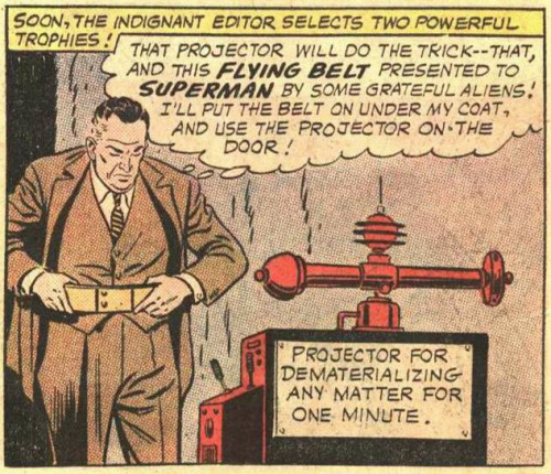 This FLYING BELT presented to SUPERMAN by some grateful aliens!