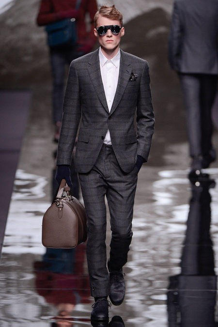 Plan to suit up this fall with Louis Vuitton. The plaid is rad.