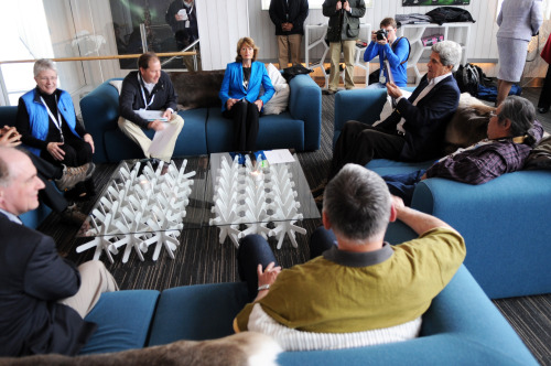 U.S. Secretary of State John Kerry meets with Alaskan Permanent Participants to the Arctic Council in Kiruna, Sweden, on May 14, 2013. [State Department photo/ Public Domain]