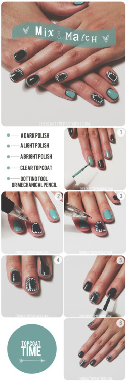 It's time for another amazing nail tutorial from one of my faves, The Beauty Department! I love the color combination used here and the outlining of the nail. Personally, I have really small nails, so I think this might look super cool! Excited to try!  <3 Chelsey, ModStylist Need styling suggestions, trend tips, or dress details? Ask a ModStylist and your question might be featured on our feed!