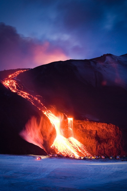 Lava from Volcano in Iceland