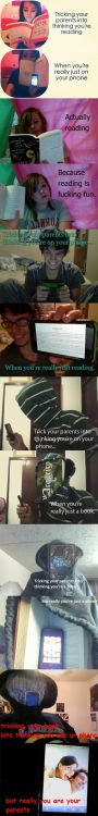 (via Tricking Your Parents Into Thinking You're Reading… | WeKnowMemes) It just… escalates.  XD
