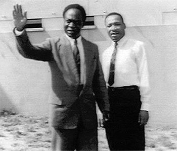 Prime Minister and former president Kwame Nkrumah of Ghana hosts Dr. Martin Luther King.