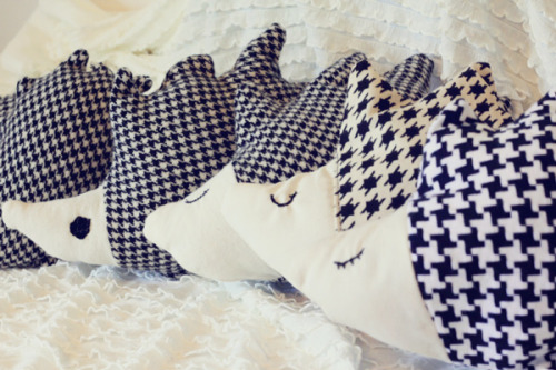 DIY Hedgehog pillows! via See Kate Sew