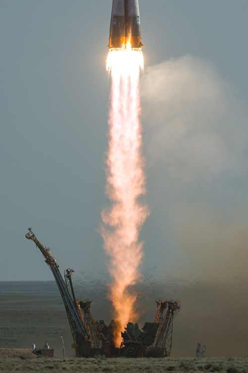 Expedition 31 - Soyuz TMA-22 Launch Expedition 31 was the 31st long-duration expedition to the International Space Station (ISS). It began on 27 April 2012 with the departure from the ISS of the Soyuz TMA-22 spacecraft, which returned the Expedition 30 crew to Earth.  The expedition ended on 1 July 2012, when crew members Oleg Kononenko, André Kuipers and Don Pettit departed from the ISS aboard Soyuz TMA-03M, marking the beginning of Expedition 32.