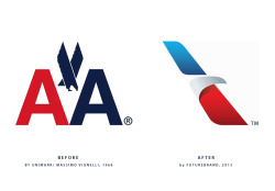 futurebrand: american airlines rebrand andy db, designboom.com futurebrand have rebranded american airlines, their new 'flight symbol' will replace the celebrated 1968 massimo vignelli design.The post futurebrand: american airlines rebrand appeared first on designboom.andy db  Why why why !!!!! I see the gimmick but I feel more for the original logo . It feels more powerful and at heart http://flip.it/zRXqJ