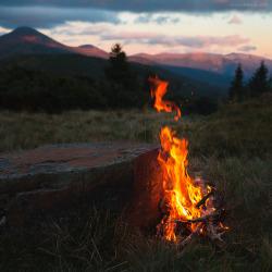 beauty summer fresh fire pink mountains nature evening travel warm bonfire wild stone grass Wood ukraine campfire Carpathian JOURNEY camp senset