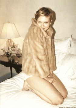 kirsten dunst in mink coat
