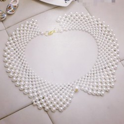Pearl Collar Necklace $9.50  Instagram: @ohsweetclosetsale Facebook:  /mangoclosetsale