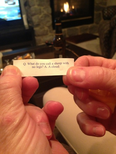 pillowbedhead:  luckyspike:  Mom: this isn't even a fortune. I got a joke. A bad joke.  Don't you mean…The best joke in the history of forever?
