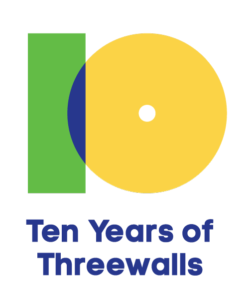 I'm very grateful to be asked by Threewalls, a Chicago-based nonprofit arts organization, to design and develop a visual language to be used for the promotion of numerous ongoing efforts during their 10th year of programing including their yearly gala, CSA program and more. The graphic pictured above is the overarching mark I designed for the system. Look for more on the streets of Chicago and the web real soon.