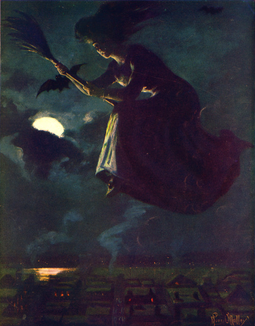 svartjerte:   Beware the beautiful witch, 1913    Halloween-themed Life Magazine cover by Power O'Malley is from 30 October 1913 (vol. 62; No. 1618 in fact)