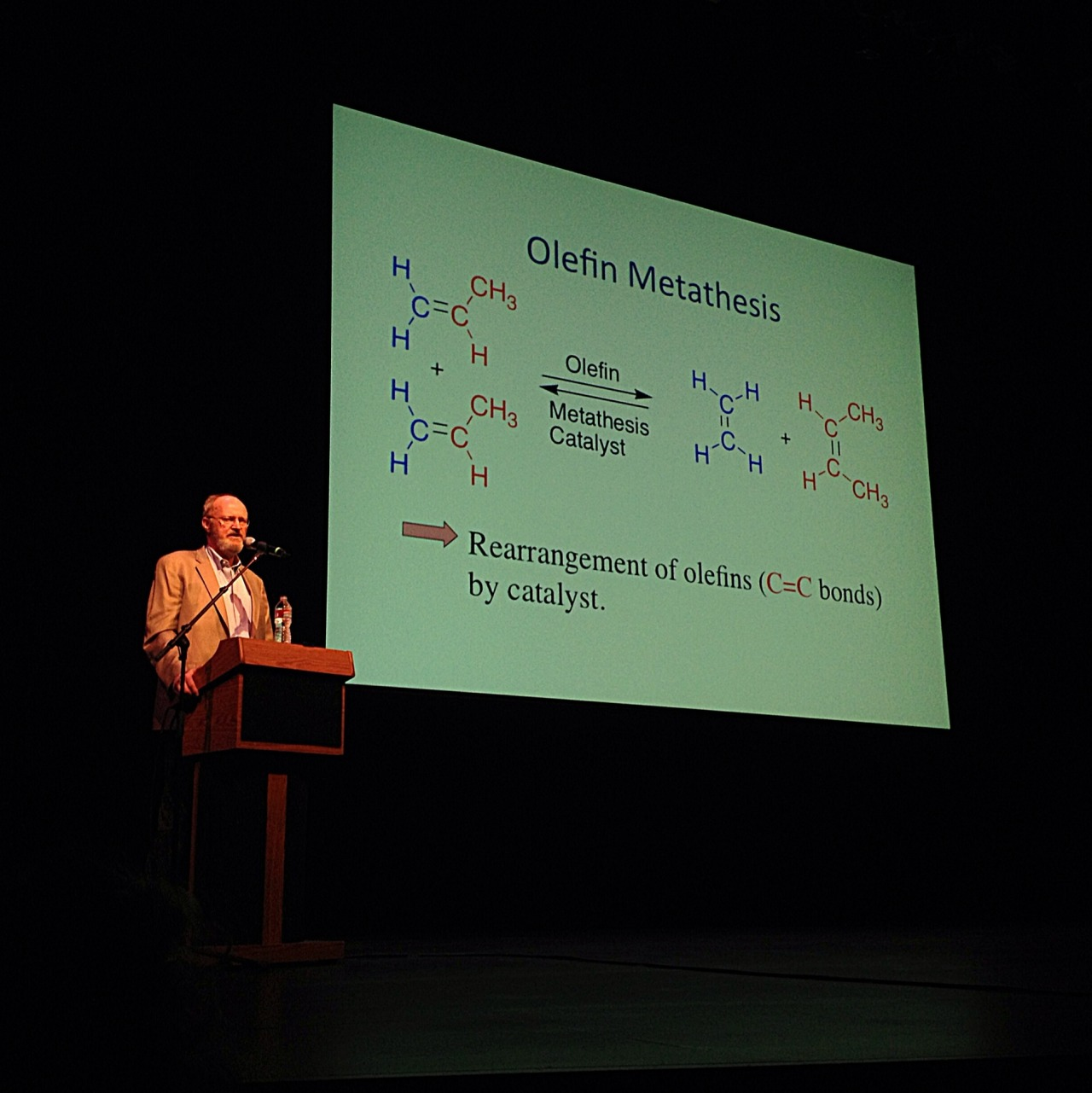 Just got to see 2005 Nobel Prize winning chemist Dr. Robert Grubbs give a talk on Olefin Metathesis