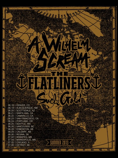 A Wilhelm Scream announces Such Gold will join them on their summer tour with The Flatliners..