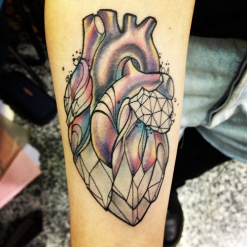 fuckyeahtattoos:  MISS JULIET CRYSTAL HEART !! Don't tell mama tattoo studio Parma Italy!! http://www.facebook.com/missjuliettattoos?fref=ts