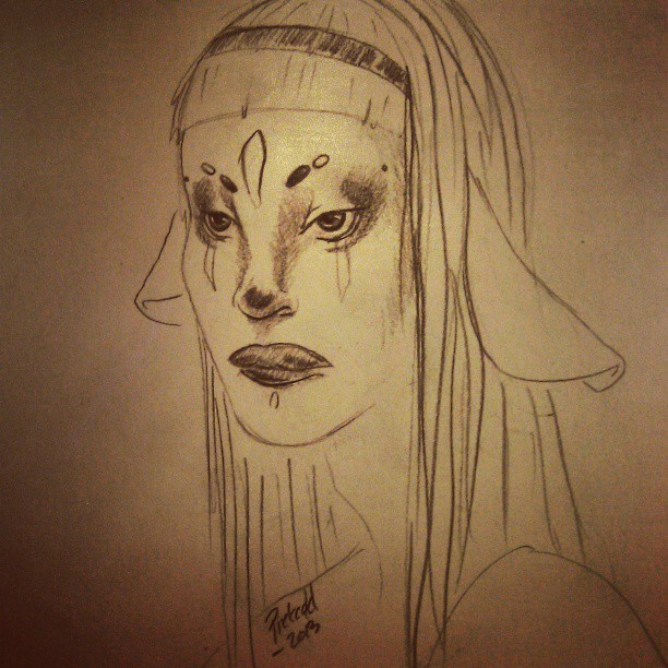 Trying to do a weard face #fantasy #crazy #creepy #art #drawing #drawn #Pietcold