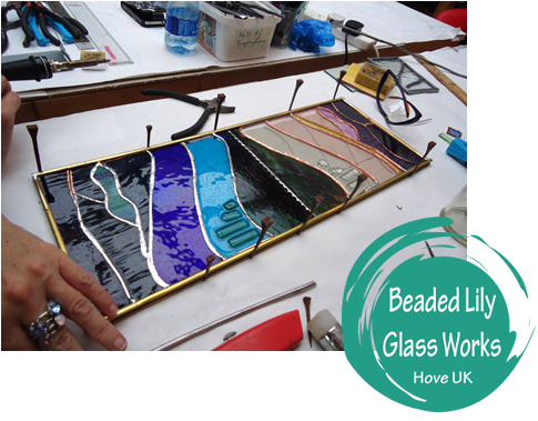 Stained Glass Weekend – Beginners Course: Create 3 Stained Glass Panels (Brighton / Hove) Course Projects: Creating one large (A4) Stained Glass piece and 2 smaller ones. (And of course you keep what you create!) Course Instructor: Linda Grieve No prior experience or artistic leanings are necessary or expected from course participants. Dates: April 20 & April 21 Times: Sat. 10:00am – 5:00pm Sun. 10:00am – 4:00pm Event Cost: 160.00 per person Location: Beaded Lily Glass Works Studio 81 Portland Road, Hove, UK For details please visit: http://beadedlilyglassworks.com/studio/events/34/stained-glass-weekend-beginners-course-create-3-stained-glass-panels-brighton-hove/