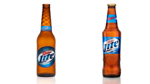 For the first time since 1973, MillerCoors has totally revamped the classic longneck. The torso of the bottle, so to speak, has been elongated, and the neck is slightly shorter. Miller design folks say that's to make it easier to drink. It looks a little more streamlined—and loses the swirled neck that was added a few years back—but holds onto key elements like brown glass. See more examples of revamped bottles.