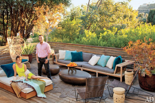 John Legend & Chrissy Teigen For Architectural Digest