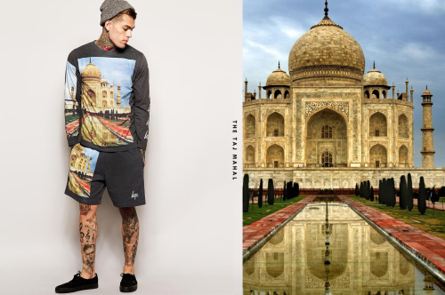 HYPE X ASOS: 7 WONDERS OF THE WORLD This month Hype has teamed up with ASOS to create a collection of bold statement printed t-shirts inspired by the 7 wonders of the world. The collection is made up of print t-shirts and shorts. You can see images such as Christ the Redeemer and the Taj Mahal featured. For those of you that are in to matching sets, 3 of 7 of the designs come as a complete 2 piece set. The t-shirts are sick, I'd definitely rock the 'Christ the Redeemer' white 2 piece!
