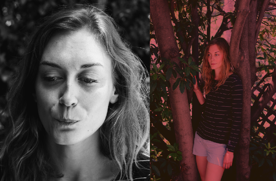 Sarah St. Clair Renard In Her Silverlake Backyard (Portrait Diptych) // July 2011