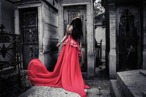 THIS COLLECTION RELEASES TODAY, SUNDAY October 5th at 4:00PM EST &#8212 www.toxicvisionstore.comInspired by Chopin&#8217s Nocturnes&#8230Photographed in Pere LaChaise cemetery in Paris, France - the final resting place of one of the greatest composers of all time.NewToxic Vision.More here:https://www.facebook.com/toxicvisionclothing/posts/10152715035498828 — atPere LaChaise Cemetirie, Paris, France.