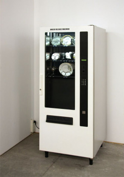 vahc:  ANGER RELEASE MACHINE (2008) by yarisal & kublitz Insert a coin. Your selected piece of china will fall to the bottom of the vending machine. It will shatter. You will feel better.