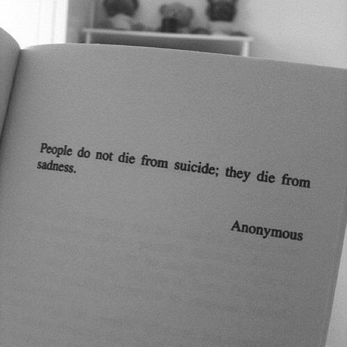 underneath-this-smile-xx:  suicide | via Tumblr on We Heart It - http://weheartit.com/entry/60094021/via/Kate_xoxo Hearted from: http://liveindreamsforever.tumblr.com/post/49335615041