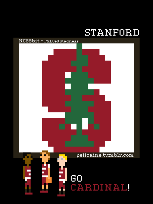 Stanford. Go Cardinal!Just one of my 90 logo recreations from my NC88Bit - PXL8ed Madness series.(http://www.flickr.com/photos/92856514@N07/)