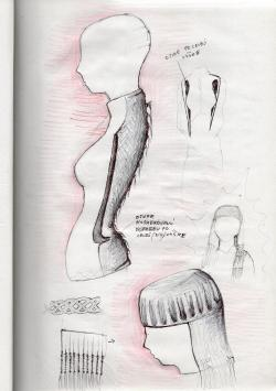 Sketchbook #63 fashion drawing