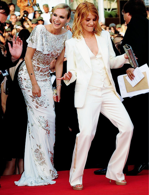 Diane Kruger and Mélanie Laurent at the 2009 Cannes Film Festival premiere of Inglourious Basterds