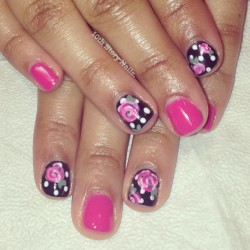 Ladylike florals for Anais. (at Vito Mazza Salon & Spa)