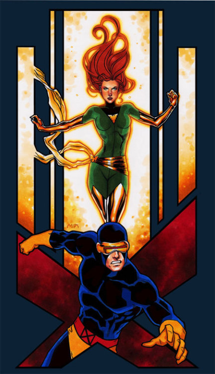 Uncanny X-Men Duos: Cyclops and Phoenix by Studio Mia
