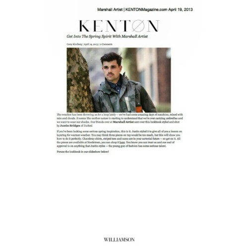 @kentonmagazine looks at @marshallartist_ #SS13 #menswear #fashion #NYC stylist/photographer @tuckedstyle
