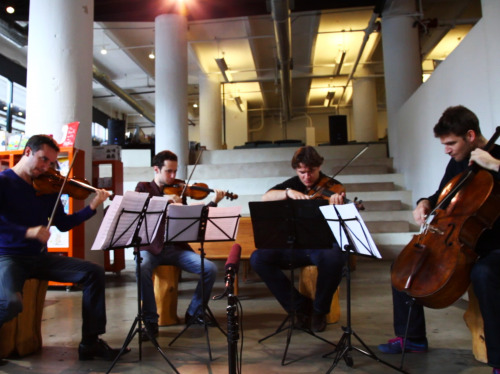 Watch the Ebene Quartetdelve deep at a Brooklyn bookstore to play the dark-hued second movement of Felix Mendelssohn's Op. 80 string quartet.
