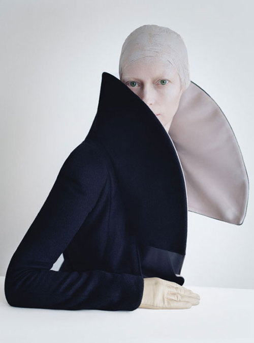 Tilda Swinton by Tim Walker and styled by Jerry Stafford