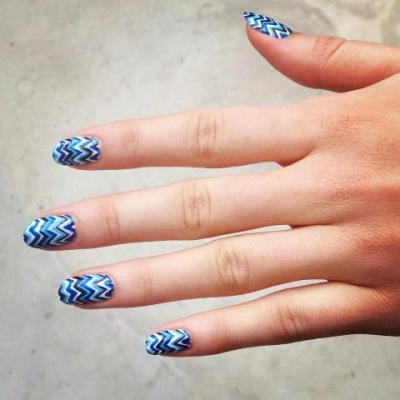 nailsbymh:  Missoni inspired nail art using Maybelline New York Color Show.