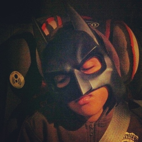 Hey, batman's gotta sleep too. #heroproblems #latergram