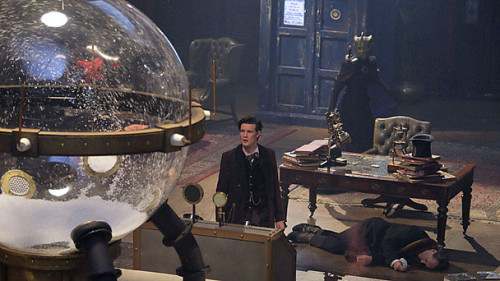 Everything you need to know about the Doctor's old enemy, The Great Intelligence via the BBC Doctor Who Blog:     Find out more about the Doctor's old enemy…The Snowmen saw the return of the Great Intelligence, the malevolent force that threatened to destroy humanity through the sinister Doctor Simeon. It was the first adventure in over forty years to feature the Intelligence, so what's the story behind this terrifying and mysterious foe? The Great Intelligence first appeared The Abominable Snowmen, a 1967 story set in a remote Himalayan monastery. It returned the following year in The Web of Fear where the Doctor was able to foil its attack focussed on the London Underground and the 2012 Christmas Special saw the Time Lord facing his old enemy in Victorian England. We've received lots of questions about the Intelligence's previous appearances and so we're delighted to roll out our Great Intelligence Collection. All three of their adventures are included and the collection comprises clips, information about the stories, galleries (including a behind-the-scenes look at their debut), Fourth Dimensions and much more…     The new pages include:     The Abominable Snowmen: Travel to the Himalayas for the Intelligence's first adventure.    The Web of Fear: The Intelligence invades the London Underground      The Snowmen: The Great Intelligence returns in this creepy Christmas special.   The Second Doctor: Meet the first Doctor who encountered the Intelligence…