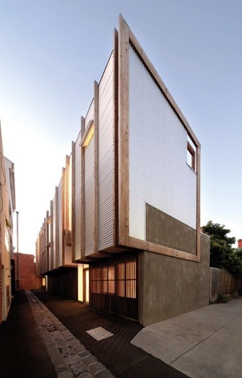 Yan Lane, two small inner city infill houses in Melbourne, Australia | Justin Mallia via: belmortimer